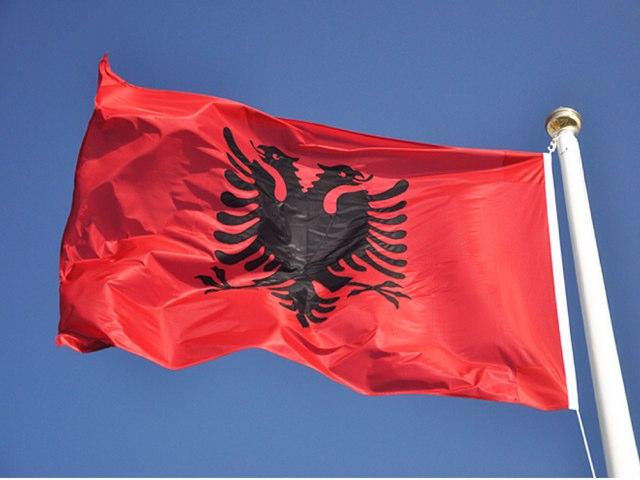 Albania Flag by Ben Chapman