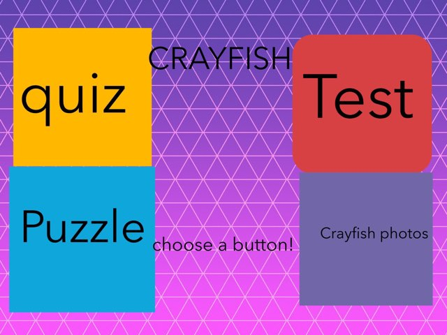 Alden's awesome crayfish game by Chris  Smith