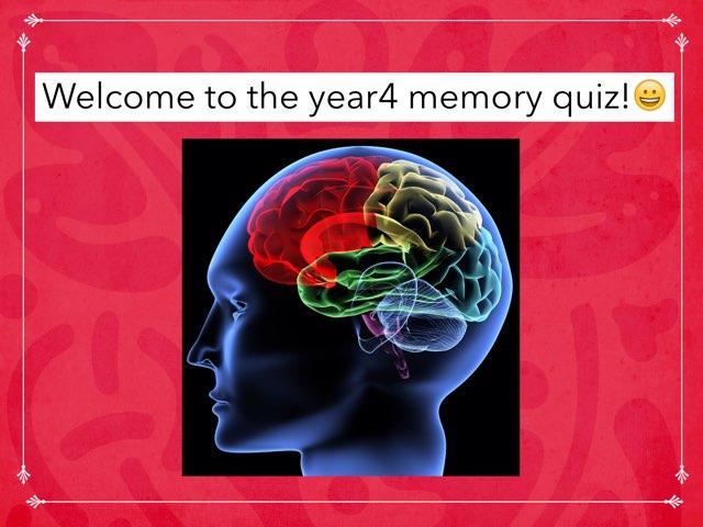 Alex's Y4 Memory Challenge! by Mr Matthews