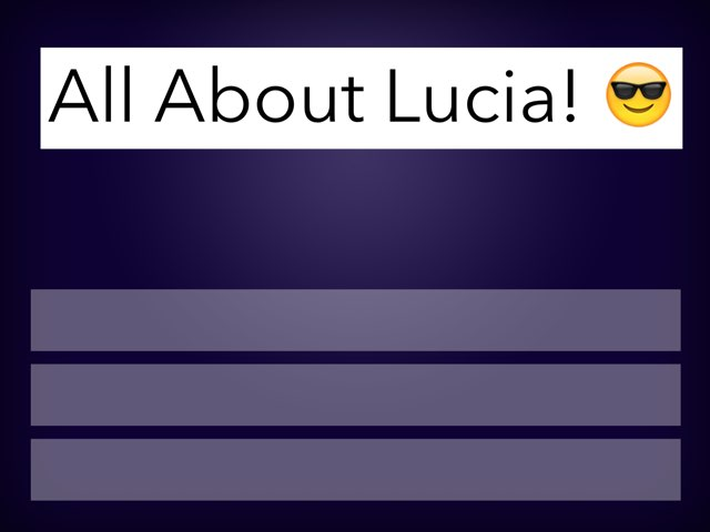 All About Lucia by Kim Deveaux