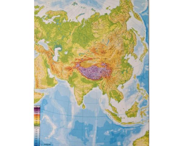 Mapa físico de Asia by Ana Caballero