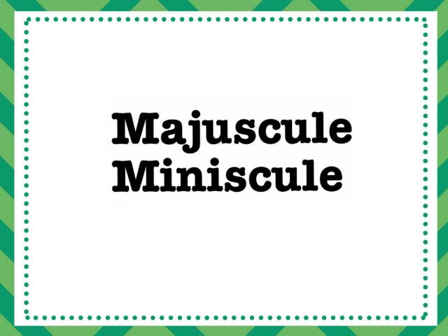 majuscule Miniscule 1  by Ève Java