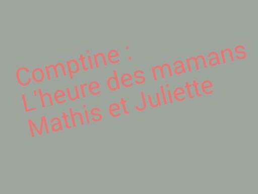 SRA Comptine l'heure des mamans by Serge Salvat