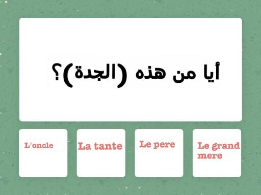 درس فرنسي عن أفراد العائلة by rasha ALKAMSH