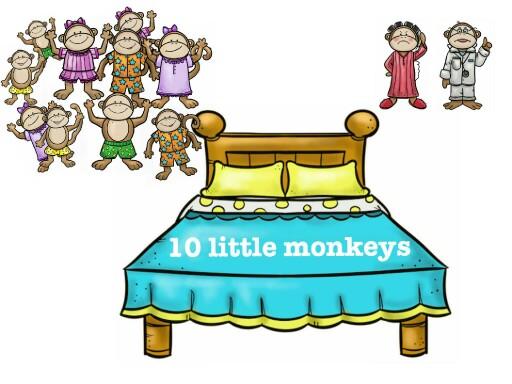 10 little monkeys by narrow sweet
