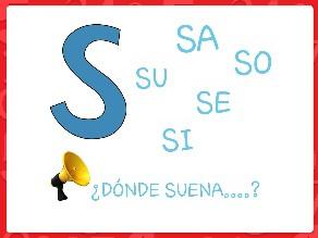 Señala DÓNDE SUENA la sílaba S.... by Maria Isabel Diaz-ropero Angulo
