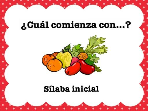 Sílaba Inicial con frutas by Daniela Berndt Ponce