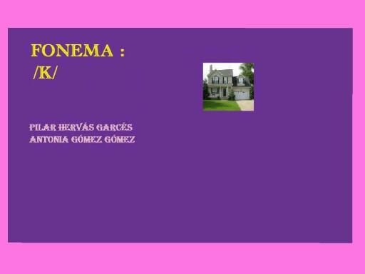 Fonema k by pilitoninas primitivas