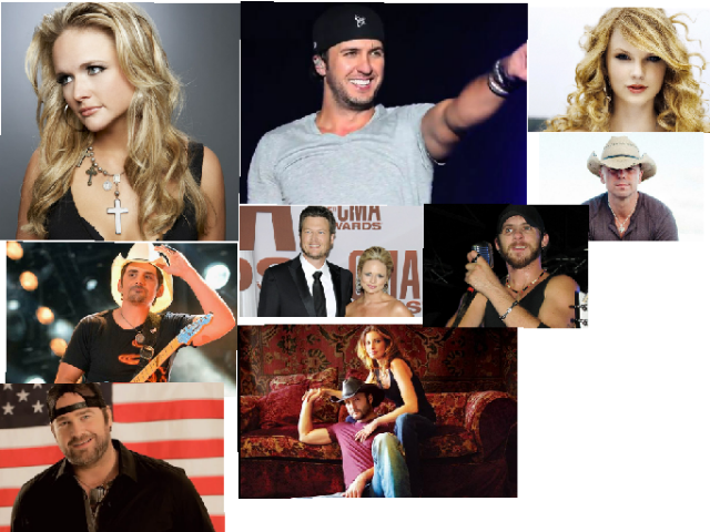 these are my favorite country singer's  by Nevaeh Martin