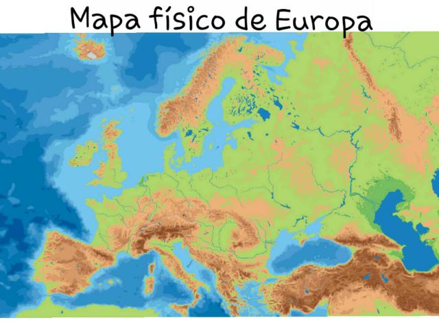 Mapa físico de europa  by Lola Sierra