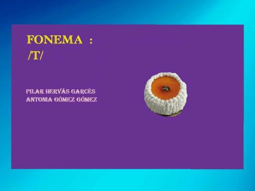 Fonema t by pilitoninas primitivas