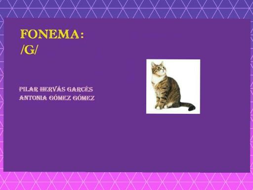 fonema g by pilitoninas primitivas