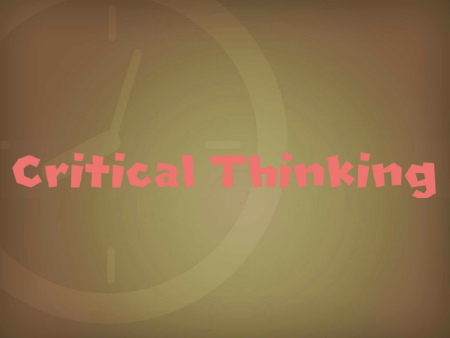 Critical Thinking  by Squarcle Squad