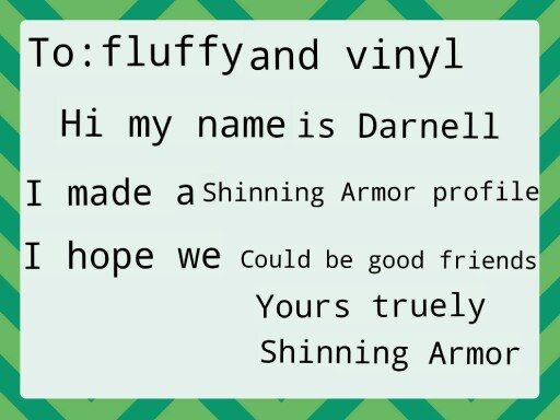 letter to fluffy and vinyl by Darnell Pierre