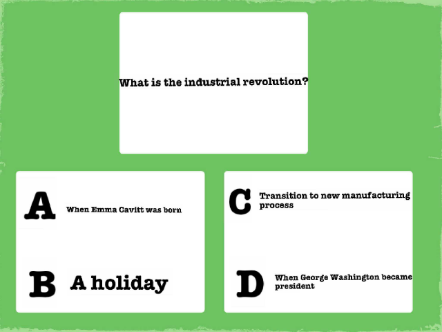 how well do you know the industrial revolution by Maddie hamilton