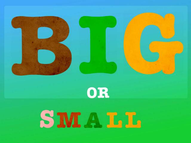 Big or small by Joanna Apanasewicz