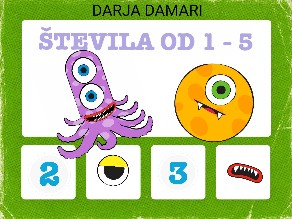 ŠTEVILA OD 1-5  by darja damari