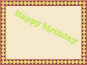 happy birthday by Lavanya K S