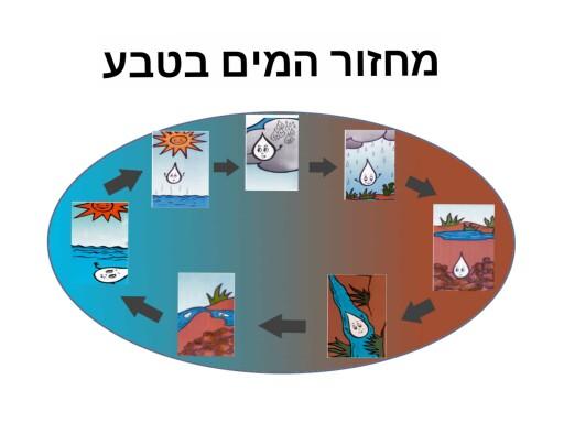 פאזל מחזור המים בטבע by Meital Ziso