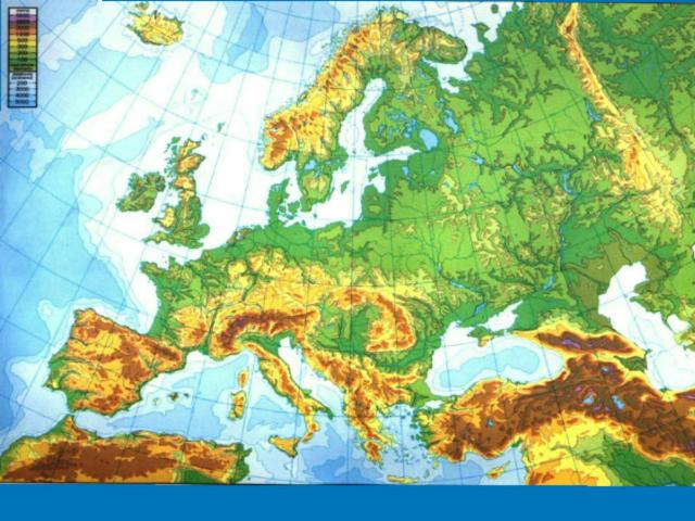 Mapa físico de Europa by Miguel Ángel Rodríguez
