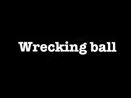 Miley Cyrus MattyB wecking ball cover by Nichole Guertin