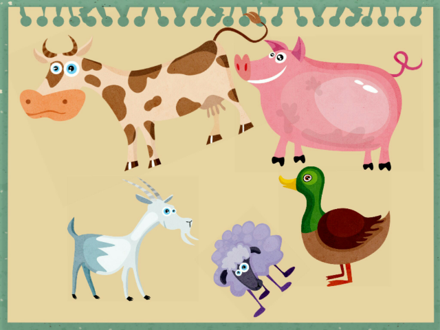 Farm animals by Ula Pawłowska