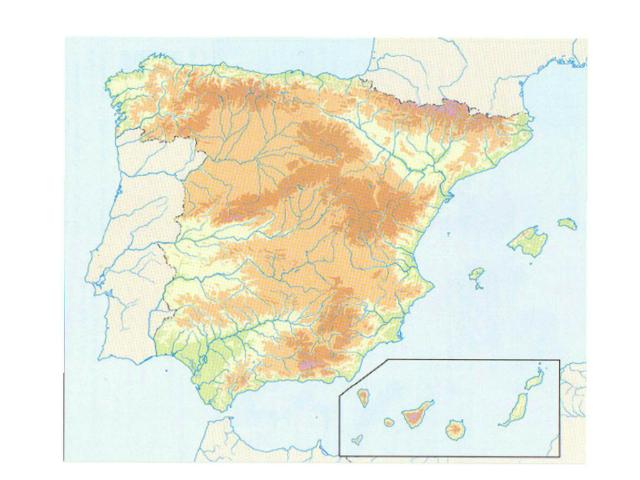 Mapa Físico España by Antonio Delgado 07