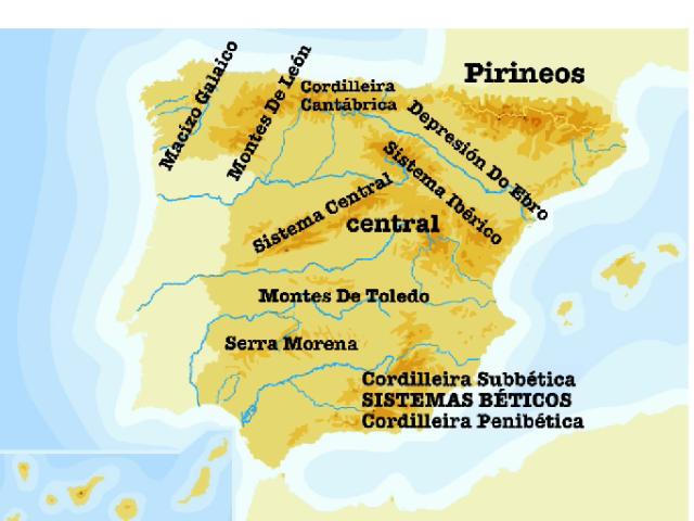 es  un mapa del relevo de España en gallego by Lucía Rodríguez