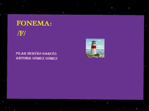 Fonema f by pilitoninas primitivas