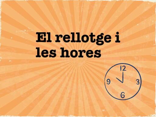 El rellotge i les hores by SANDRA DOMENECH PROS