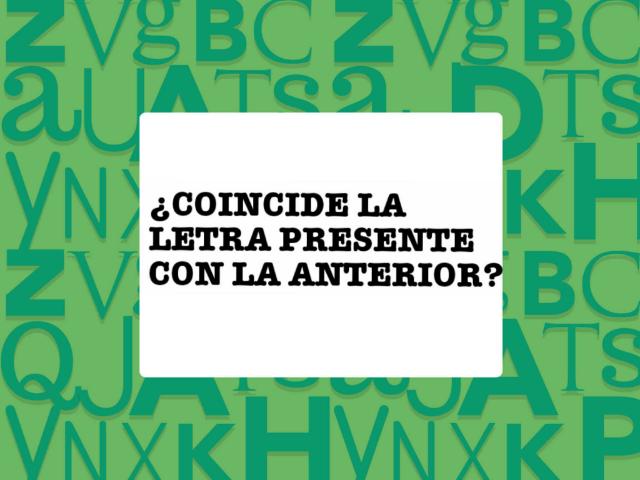 ¿Coinciden las letras? by Carla Alfaro