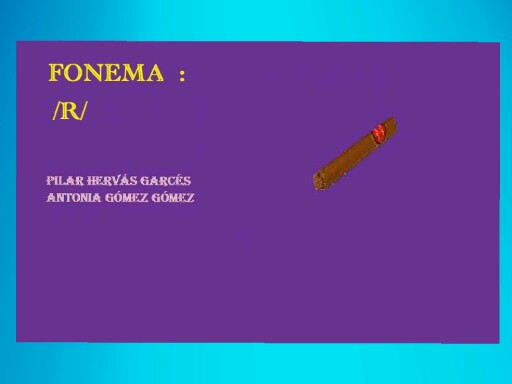 Fonema r suave by pilitoninas primitivas