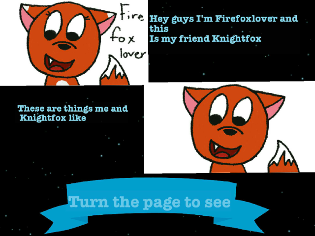 Firefoxlover and Knightfox  by Firefox lover