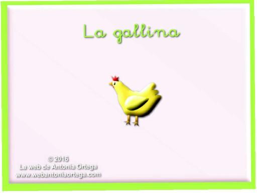 La gallina by Antonia Ortega López