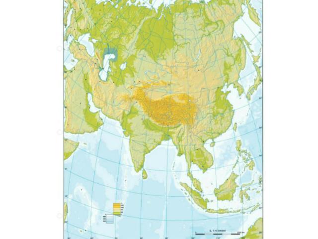 Mapa físico de Asia by Miguel Ángel Rodríguez