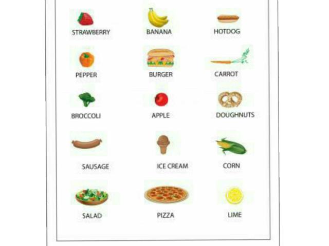Circle only healthy food by Rehab Samir El Shenawy