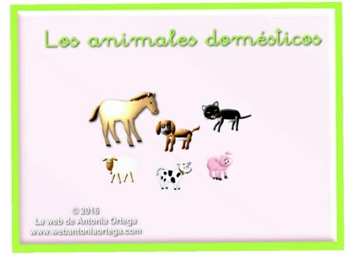 LOS ANIMALES DOMÉSTICOS by Antonia Ortega López