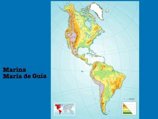 Mapa físico de América by Marina Rubio