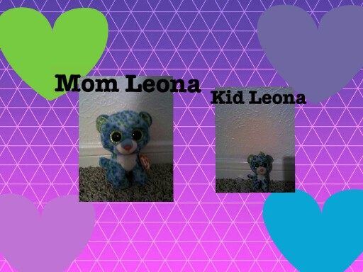 mom Leona vs. kid Leona by Rachel ashford