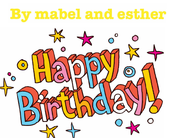 My game is for kids that want to have fun with there birthday. by mabel feler