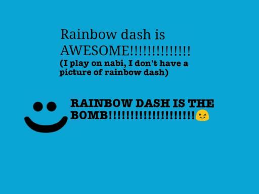 RAINBOW DASH!!!!!! !!!!!!!!!!! !!!!!!!!!!  !!! !!!!!!!!!!!! !!!!!!!!!!!!!!! by saya brown