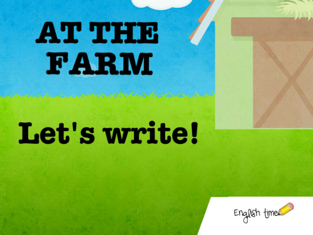 At the farm ~ Can you write? by Cecilia Zezlin