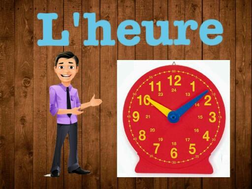 درس الساعة بالفرنسي by rasha ALKAMSH