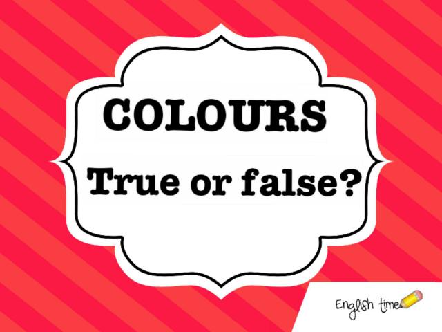colours ~ true or false by Cecilia Zezlin