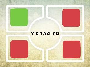 יוצא דופן 4 אפשרויות by Maayan Kedar