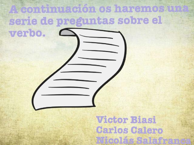Juega con los verbos!! by Victor Biasi
