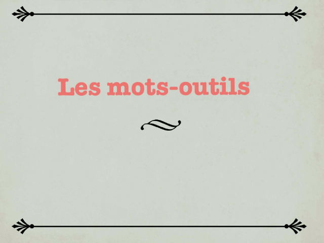 mots-outils 1 by Anne Rodde