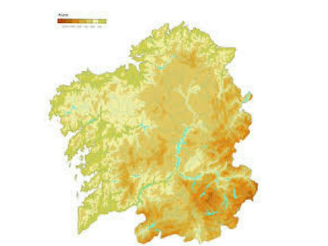 mapa físico de Galicia by Lucía Rodríguez