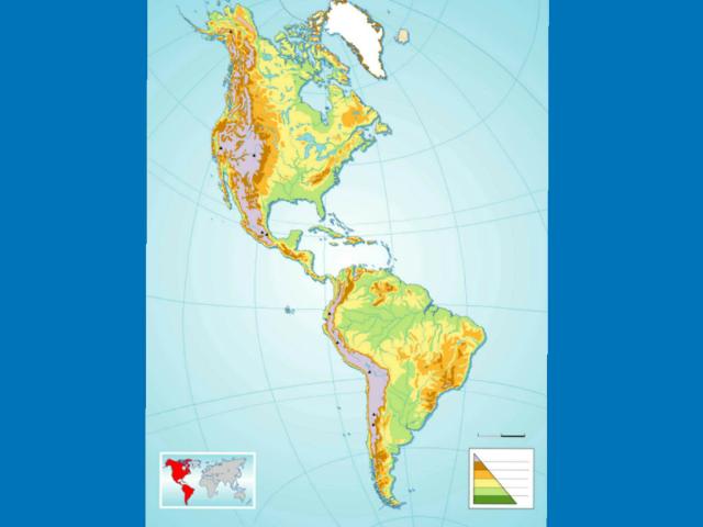 Juego Mapa Físico América  by Juan Toril