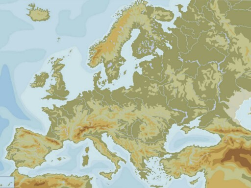 MAPA FÍSICO EUROPA by albert_10